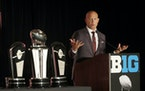 Gophers coach P.J. Fleck took questions during the last Big Ten Football Media Days, in 2019 in Chicago.