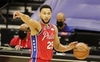 Sixers guard Ben Simmons. ORG XMIT: 21110611W