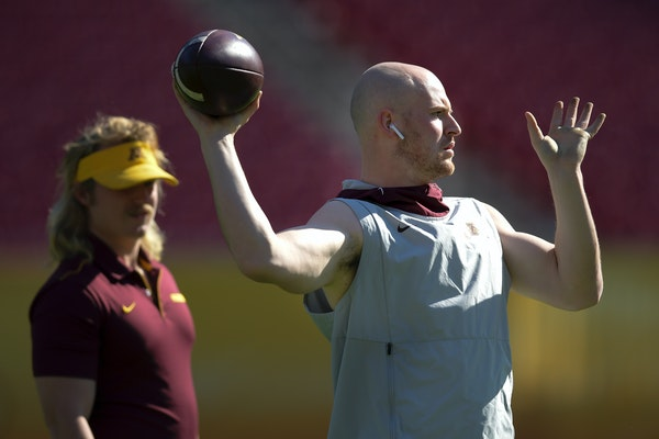 Scoggins: Knowing his purpose, QB Morgan ready to lead Gophers after father's death