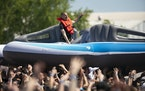 Prof was riding high in 2019 at the Soundset Festival on the Minnesota State Fairgrounds. JEFF WHEELER / Star Tribune