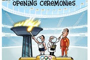 Sack cartoon: Opening ceremonies