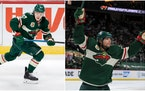 Getting Kirill Kaprizov (left) and Kevin Fiala re-signed is a top priority for Wild General Manager Bill Guerin.