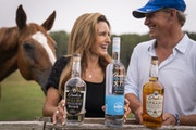 Drake's Organic Spirits founders Mark and Kristen Anderson at their farm in Maple Plain.