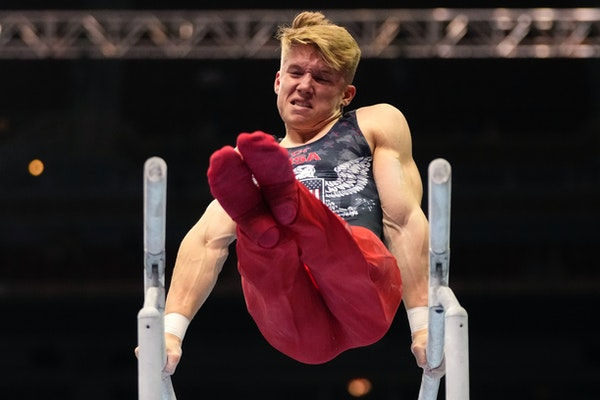 Former Gopher Shane Wiskus finished third in the all-around, second on parallel bars and third on high bar at the U.S. Olympic trials.
