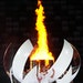 Tennis star Naomi Osaka lit the Olympic flame at Olympic Stadium during the Opening Ceremony in Tokyo on Friday.