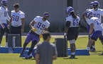 Vikings defensive end Danielle Hunter (99) went through minicamp in May and is being counted on heavily after a return from injury.