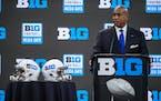 Big Ten Commissioner Kevin Warren spoke at Media Days on Thursday at Lucas Oil Stadium in Indianapolis.