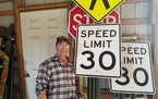 Greg Anderson bought and put up eight traffic control signs, but Princeton Township officials removed them.