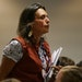 Winona LaDuke, who heads the Honor the Earth environmental group, at a Public Utilities Commission Hearing on Enbridge's Line 3.