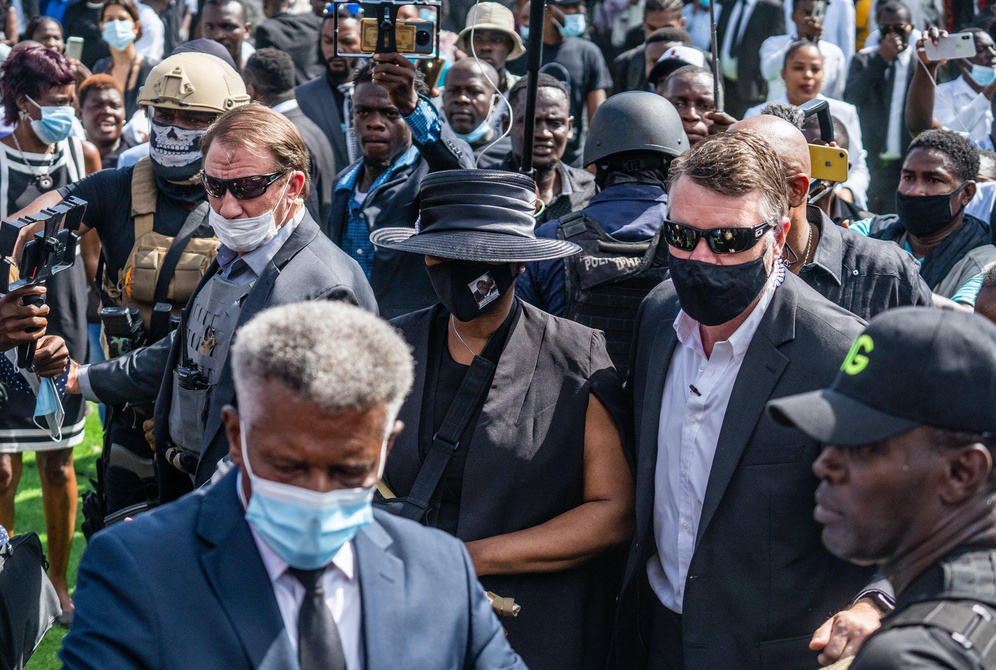 Anger, turmoil surround Haitian funeral