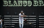 Blanco Brown performed on the main stage at the Twin Cities Summer Jam at Canterbury Park in Shakopee on Friday.