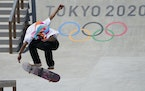 Yuto Horigome competed in the men's street skateboarding finals on Sunday in his home nation of Japan.