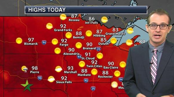 Morning forecast: Hazy sunshine, high of 93
