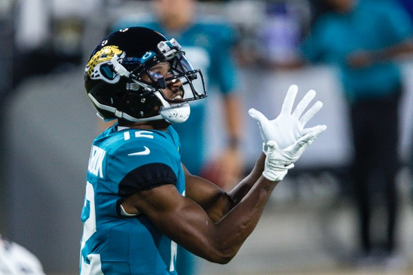 Dede Westbrook  had 160 catches for 1,720 yards and nine touchdowns in four seasons with Jacksonville, but his 2020 season lasted only two games becau