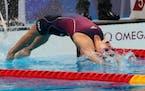 Regan Smith during her 100-meter backstroke semifinal.