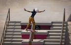 Rayssa Leal, 13, of Brazil, won the silver medal in the women's street skateboarding event.