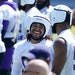 Eric Kendricks talks to Anthony Barr at Vikings minicamp in June.