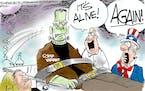 Editorial cartoon: Dana Summers on COVID variants