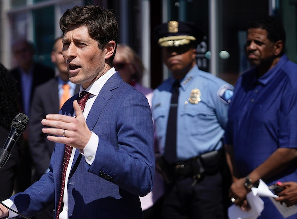 Mayor Jacob Frey joined other city leaders in announcing a new model for community safety and accountability in Minneapolis on May 17.