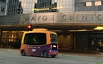 The Med City Mover on the Mayo Clinic campus. (Photo provided by the Minnesota Department of Transportation)