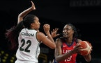 Lynx center Sylvia Fowles finished with nine points on 4-for-6 shooting in just under 11 minutes of action.
