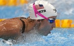 Regan Smith of the United States swims during a heat in the women's 200-meter butterfly.