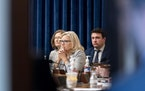 Rep. Liz Cheney, R-Wyo., appears during a meeting as the select committee on the Jan. 6 attack prepares to hold its first hearing Tuesday, on Capitol