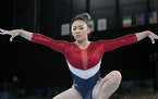 St. Paul's Suni Lee performed on the balance beam during the artistic gymnastics women's final at the 2020 Summer Olympics on Tuesday in Tokyo.