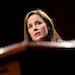 U.S. Supreme. Court Justice Amy Coney Barrett during the third day of her Senate confirmation hearing in 2020.