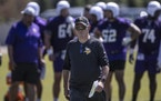 Vikings coach Mike Zimmer at minicamp in June.