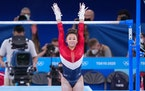 Suni Lee's uneven bars score of  15.400 was the highest bars score at these Olympics so far.