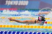 Regan Smith took second in her semifinal in women's 200-meter butterfly in Tokyo.