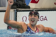 Katie Ledecky won the women's 1,500-meter freestyle for her sixth career Olympic gold medal.