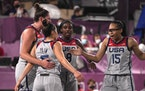 Team USA is in action earlier Wednesday morning in the women's 3x3 basketball medal rounds. They finished in first place during pool play.