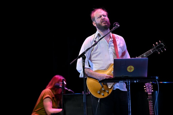 Justin Vernon of Bon Iver performed at the New Yorker Festival in 2019.