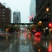 Before the heat set in, an early morning shower fell Wednesday in downtown Minneapolis.