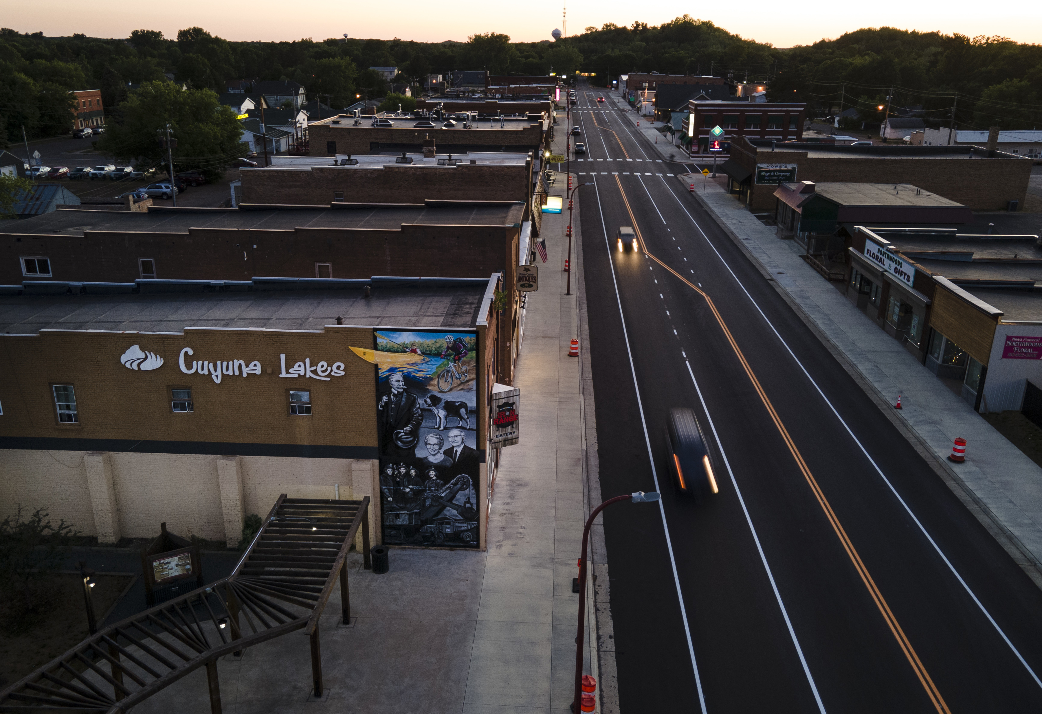 A summer's night on Crosby's Main Street belied a community buzzing with activity.