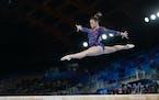 Suni Lee, St. Paul's high-flying star, goes for a gold again early Thursday morning.