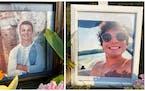 Mack Motzko, 20, left, and Sam Schuneman, 24, were killed in the weekend crash.