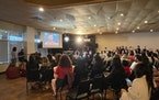 Family, fans gather to watch St. Paul Olympian Suni Lee.