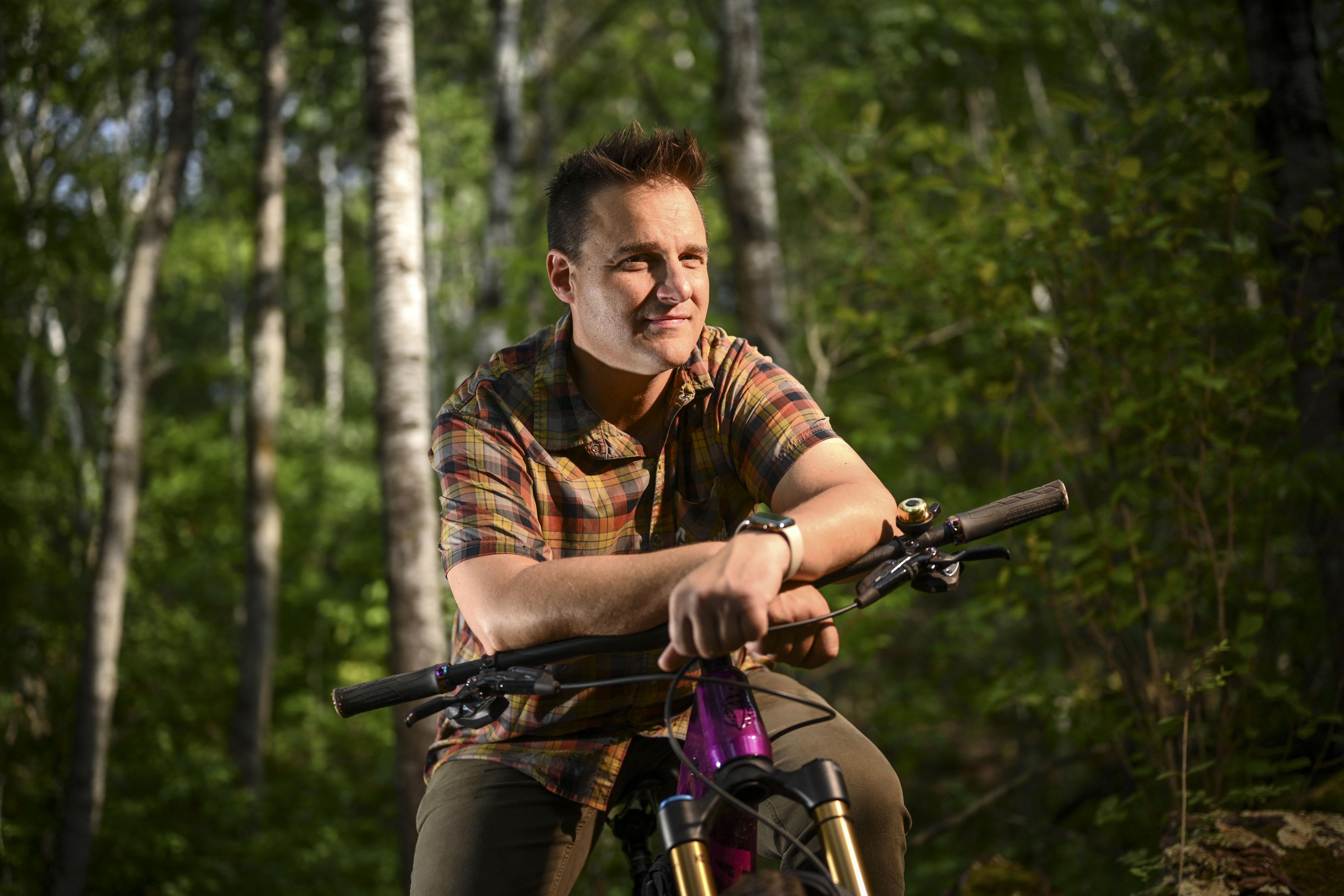 Aaron Hautala is among many who have fought for and helped expand the mountain biking trails.