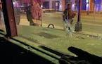 Gunfire targeted National Guard members and police in north Minneapolis in April.  Credit: Minnesota National Guard