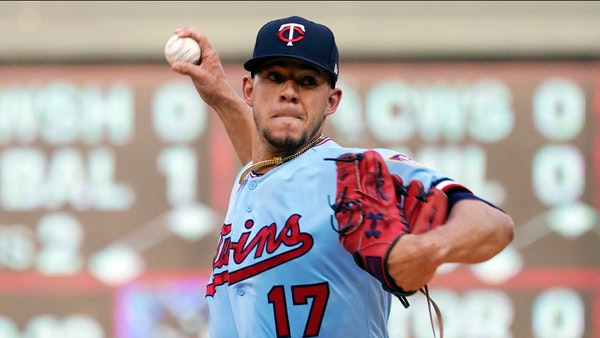 Minnesota Twins' pitcher Jose Berrios in what might have been his last start for the Twins at Target Field last week.