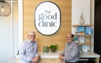 CEO Michael Howe (left) of the Good Clinic, and CEO Larry Diamond of parent company Mitesco.