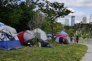 A homeless encampment in September 2020 in Minneapolis.