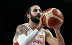Timberwolves point guard Ricky Rubio, traded to Cleveland for forward Taurean Prince on Thursday,  is playing for Spain at the Tokyo Olympics.