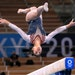 U.S. gymnast Sunisa Lee competes on the beam in the women's individual all-around final at the 2020 Tokyo Olympics on Thursday