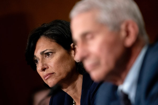 Dr. Rochelle Walensky, the director of the Centers for Disease Control and Prevention, and Dr. Anthony Fauci, director of the National Institute of Al