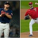 The Twins traded Jose Berrios (left) to Toronto and J.A. Happ to St. Louis.