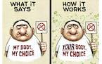 Sack cartoon: COVID-19 vaccine